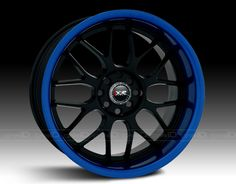 XXR® - 006 Black with Blue Anodized Lip possibly for my future Subie Car Rims, Truck Rims, Rims For Cars, Rims And Tires, Car Car, Toyota Scion Tc, Rim And Tire Packages, Honda Civic Car, Jdm Wheels