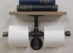 Industrial Look TP holder with black pipe from Gill-Roy's!