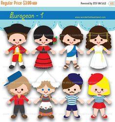 50% de los niños de los países europeos del por clipartsuperstore