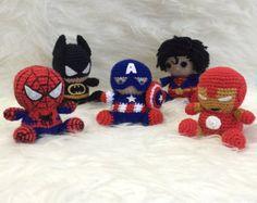 SPIDERMAN  Amigurumi Pattern SuperHero Spider Marvel Easy DIY