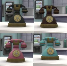 """Vintage Rotary Phone biguglyhag: """" Get it *HERE* Sims 3 Store phone from the The Sims 3 Generations Registration Gifts. The Sims 4 Pc, Sims Four, Sims 4 Mm Cc, Tumblr Sims 4, Sims 3 Generations, Sims 4 Cc Furniture, Custom Furniture, Sims 4 Cc Packs, Sims 4 Build"""