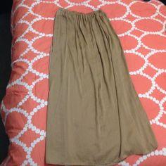 Zara Khaki Maxi dress Worn once Zara Dresses Maxi