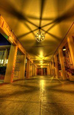 A hallway at Stanford University, Palo Alto, California, United States