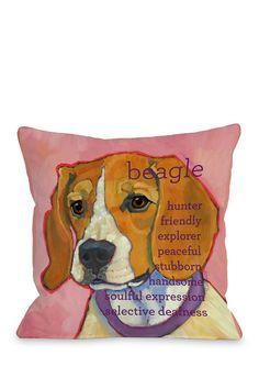 Beagle 1 Pillow #dog #beagle #animal #