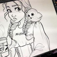 Красивые девушки для срисовки - картинки, рисунки, простые и легкие 3