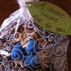 Bird's nest cookie favors from my sister's baby shower...super cute!