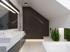 Projekt domu HomeKONCEPT 51 #homekoncept #projektdomu #domnowoczesny #domjednorodzinny #stylhomekoncept #modernhome Bungalow House Design, Design Case, Ideal Home, Living Room Decor, Home And Family, Sweet Home, Mirror, Bathroom, Furniture