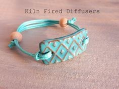 Diffuser Bracelet Essential Aroma Oils Aromatherapy Terracotta Clay Jewelry Personalized Natural Terra Cotta Turquoise No Metal Jewellery - Ceramic Jewelry - Ceramic Jewelry, Ceramic Beads, Clay Beads, Metal Jewelry, Gold Jewelry, Ceramic Fish, Diamond Jewelry, Polymer Clay Bracelet, Diffuser Jewelry
