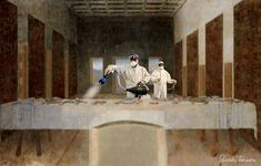 Variants of the famous painting Don Meme, Classical Art Memes, Art Jokes, Art Folder, Last Supper, Arte Pop, Cultura Pop, Banksy, Funny Art