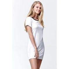 La Hearts Ringer T-Shirt Dress ($33) ❤ liked on Polyvore