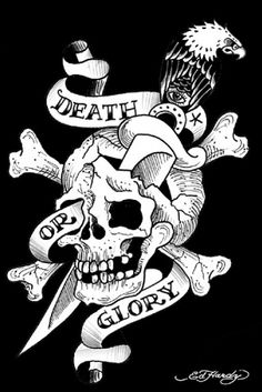 Ed Hardy Tattoo Poster Death or Glory   eBay