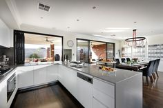 U shape kitchen modern servery bi folds