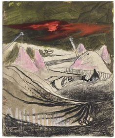 Artwork by Graham Sutherland, STUDY: OPENCAST COAL MINING, Made of pencil, charcoal, chalk, pen and ink, watercolour and gouache on paper Coal Mining, Gouache, Impressionist, Graham, Modern Art, Auction, Study, Watercolor, Ink