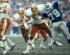 """Joe Jacoby OT #86 played 13 years as a member of the """"Hogs"""", the Redskins self-named group of o-linemen.    Jacoby started 148 of 170 games, a four-time Pro Bowl pick and a two-time, first-team All-Pro selection. He was a Hall of Fame finalist in 2005, 2008 and 2013."""
