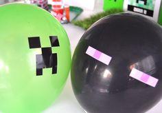 Adesivos para balões Festa Minecraft | Design Festeiro