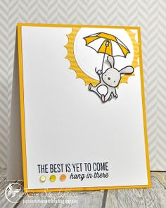 Hang in There from Joyful Creations with Kim.  Uses Mama Elephant Stamps, Fab Friday Sketch and Rockwell Designs Pantone Color Challenge.