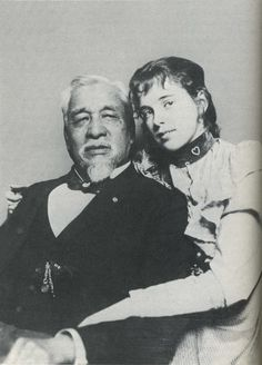 Ely S. Parker with his daughter