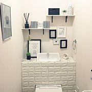 Bathroom,ロンハーマン,セリアリメイク,リメイクシート,タンクレス風,西海岸風に関連する他の写真