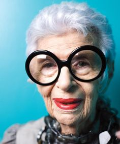 """Iris Apfel on What It's Like to be the Most Stylish 93-Year-Old on thePlanet - """"If it feels good in the pit of my tummy, then I know it's right."""""""