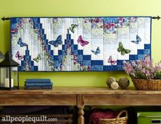 All Aflutter Wall Quilt or Table Runner