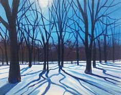 Shadows in the Snow Day 326 SOLD - Acrylic on Canvas