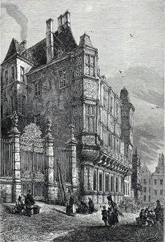 Antique print gravure palace Willem Frederik Hendrik , Luxemburg 1882