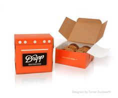 Dripp Coffee Take Away Cookie Box Design by Turner Duckworth