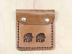 Leather African Elephant Purse  Leather Coin by TinasLeatherCrafts. Repin To Remember.