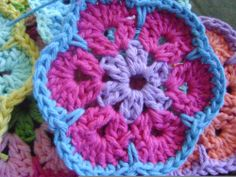 Cute Flower Pattern- can be made into Granny Squares, too.