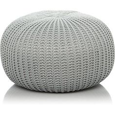 Grey Fine Knitted Pouffe Round Footstool Leg Rest Living Room Foot Stool Seat for sale online Living Room Grey, Living Room Decor, Living Area, Counselling Room, Copper Side Table, Knitted Pouffe, Baby Play Areas, Floor Seating