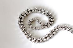 faux diamond choker xilion swarovski crystal necklace by girlthree, $49.00