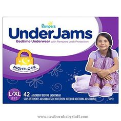 Baby Girl Clothes Pampers UnderJams Bedtime Underwear Girls Size Large/X-Large, 42 Count