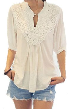 Women's Lace Casual/Daily Cute Spring Blouse
