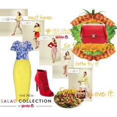Spring Style & Wendy's® #NewSaladCollection: Pt. 1 by coppin-s on Polyvore featuring People Tree, Jane Norman, Charlotte Russe, Zara and NewSaladCollection