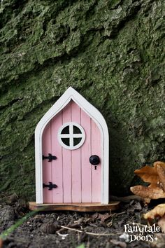 Fairy Dust, Fairy Tales, Fairy Doors On Trees, Tooth Fairy Doors, Idee Diy, Door Knobs, Pink, Windows, Etsy