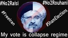 My vote is collapse regime✊👊✌️  #Iran #IranElection #IranElection2017 #ShamElections #IranSelection  #No2Rouhani  #No2Raisi  #FreeIran