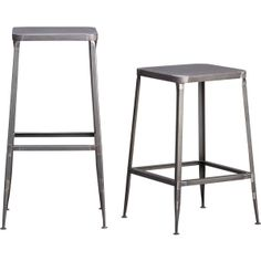 flint barstools - perfect match with our stern counter table!!!! | CB2. Love this!!!!