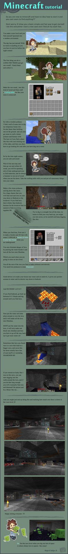 Minecraft: Tutorial for Beginnners. So if I can ever convince KT or my mom to play....