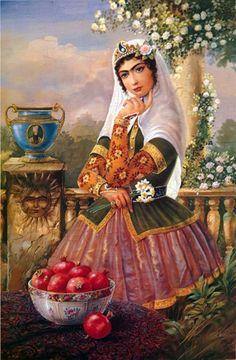 Persian Qajar Girl