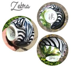 Safari Animal Collection - Hand-Painted Porcelain Art Bowls, DECOR