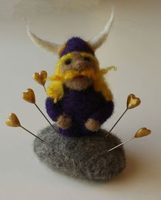 Needle felted Viking by Barbara Weiss