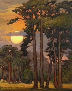 "Evergreen Towers by Jan Schmuckal Oil ~ 20"" x 16"""