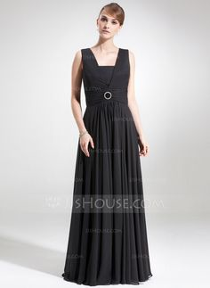 Mother of the Bride Dresses - $138.99 - A-Line/Princess Square Neckline Floor-Length Chiffon Mother of the Bride Dress With Ruffle Crystal Brooch (008006273) http://jjshouse.com/A-Line-Princess-Square-Neckline-Floor-Length-Chiffon-Mother-Of-The-Bride-Dress-With-Ruffle-Crystal-Brooch-008006273-g6273?ver=xdegc7h0