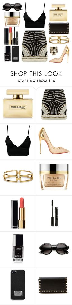 """""""party time"""" by pimargarida ❤ liked on Polyvore featuring Dolce&Gabbana, Balmain, Dark Pink, Christian Louboutin, Sole Society, Estée Lauder, Chanel, Stila, INDIE HAIR and MICHAEL Michael Kors"""