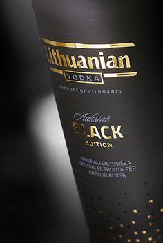 Lithuanian Vodka Gold – Black Edition