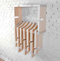 The Tentacle wall shelf by Madrid-based designer, José Hurtado, is more than just a simple shelf. The pine cabinet with interchangeable shelves can be adapted to any combination you see fit. Whatever your needs are, the Tentacle can be modified by attaching each shelf piece to each other in varying combinations to make the most useful shelf for you.