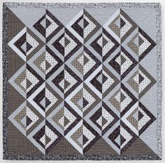 Modern Neutrals quilt by Amy Ellis, posted by Jacquie at Tallgrass Prairie Studio