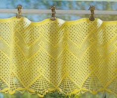 Crocheted Curtain - Sun Fever