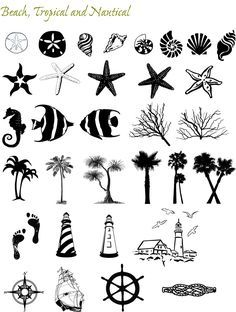 Graphic Themes: Beach and Nautical   TextStyle Designs