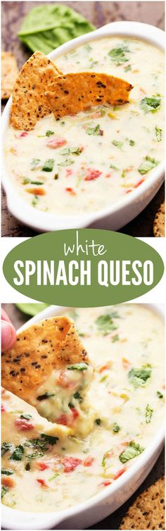 The White Spinach Queso will be the BEST dip you ever make! The White Spinach Queso will be the BEST dip you ever make! Think Food, I Love Food, Food For Thought, Good Food, Yummy Food, Tasty, Yummy Appetizers, Appetizer Recipes, Fingers Food